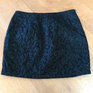 XXI Black Brocade Skirt with Pockets Size M